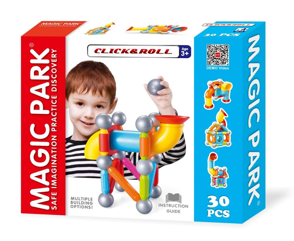Magic Park : Jeu Magnétique D'éveil De Construction Pour Enfants À Partir  De 3 Ans (30 Pièces) destiné Jeux Pour Enfant De 3 Ans
