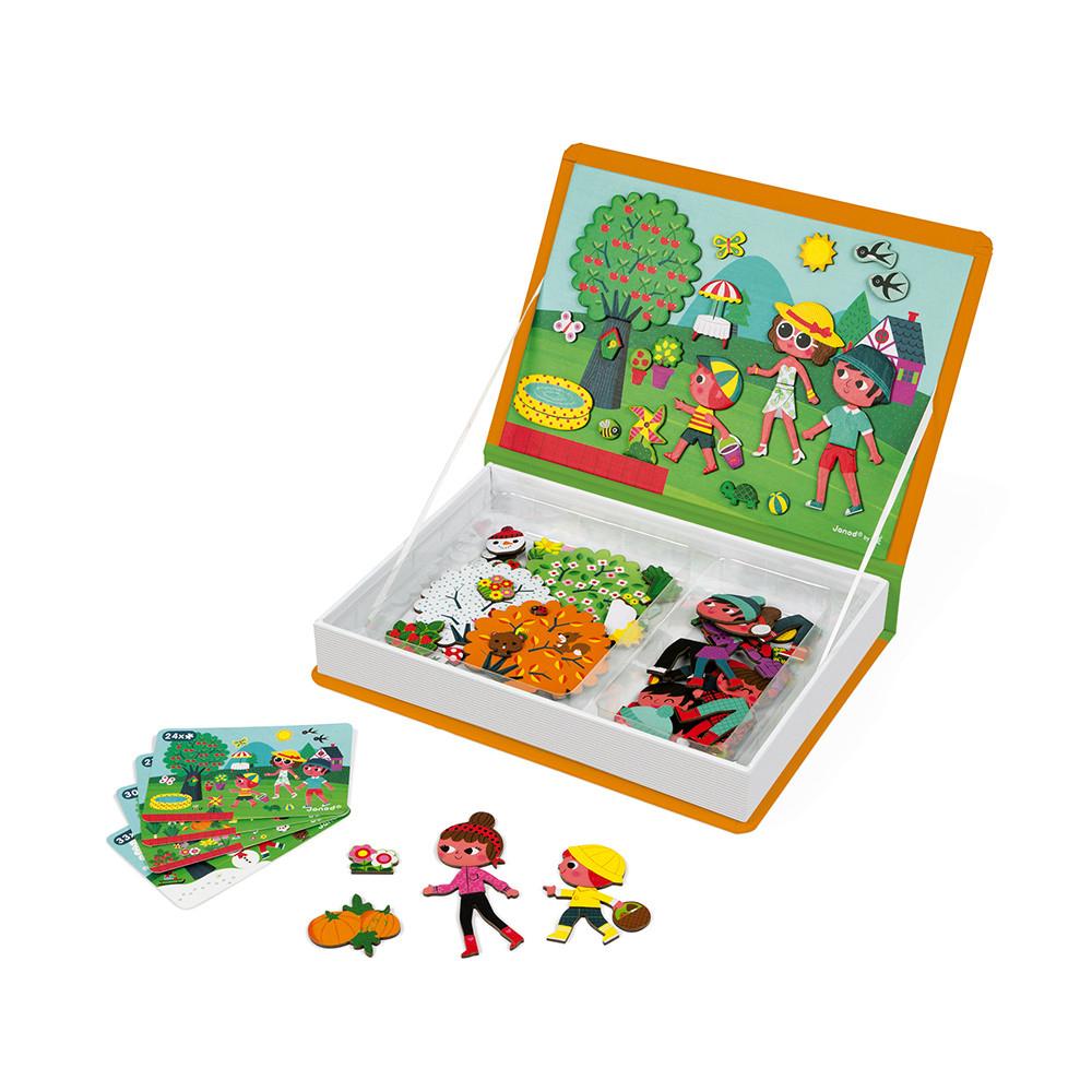 Magnéti'book 4 Saisons, 115 Magnets encequiconcerne Jeux Educatif 4 Ans