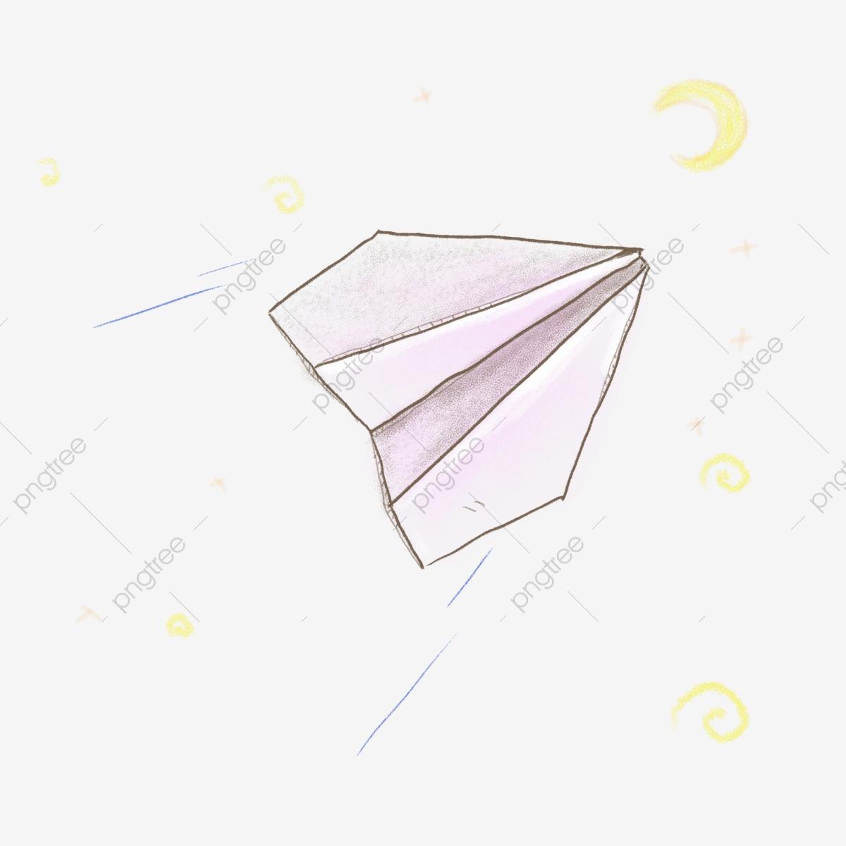 Main Dessinée Bonhomme Allumette Simple Avion En Papier destiné Origami Bonhomme De Neige