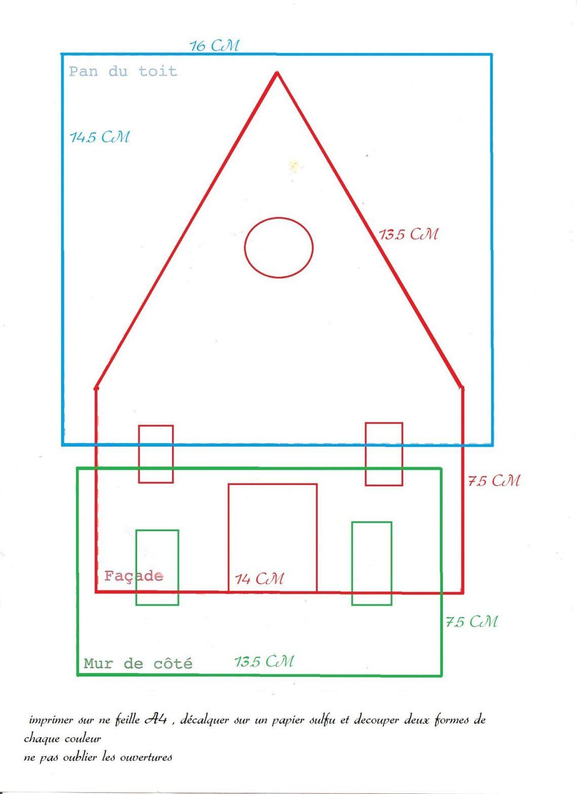 Maison De Pain D'épices - Thermomix En Famille encequiconcerne Patron De Maison En Papier A Imprimer