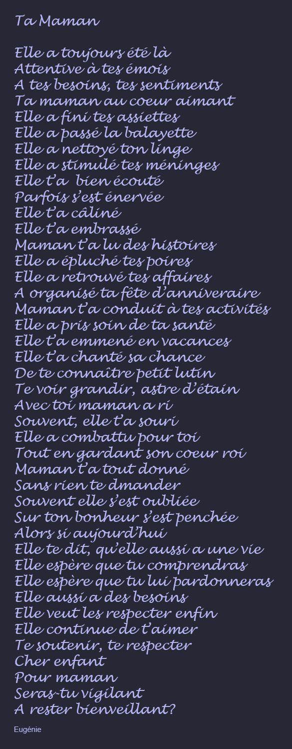 Maman Je T'aime❤️👌😍😘♥️ | Texte Pour Maman à Texte Maman Je T Aime