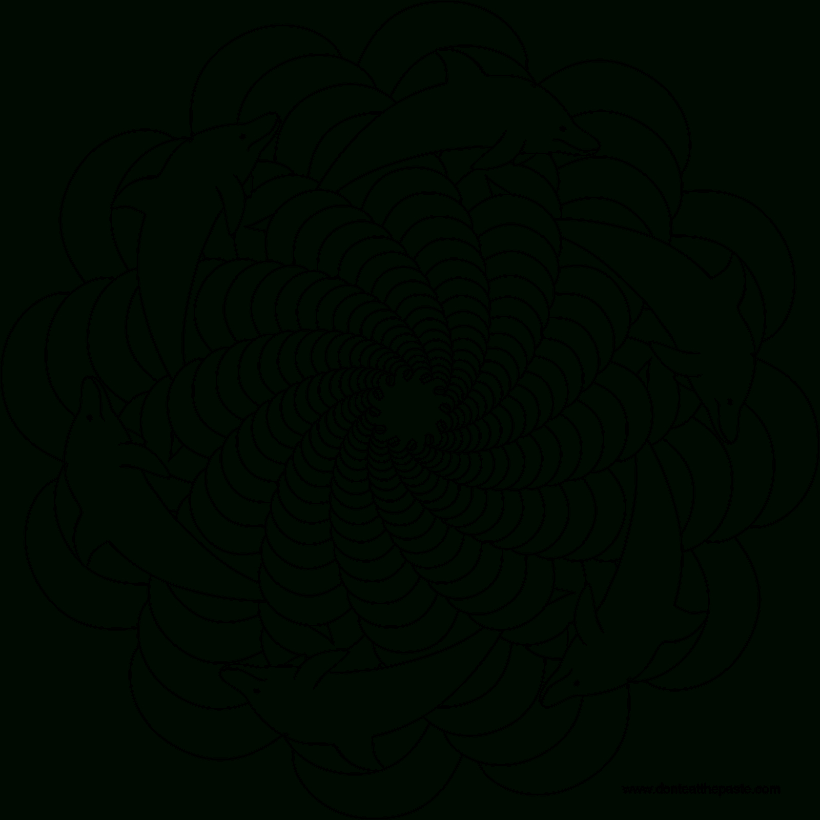 Mandalas Animaux #51 (Mandalas) – Coloriages À Imprimer concernant Dessin De Vague A Imprimer