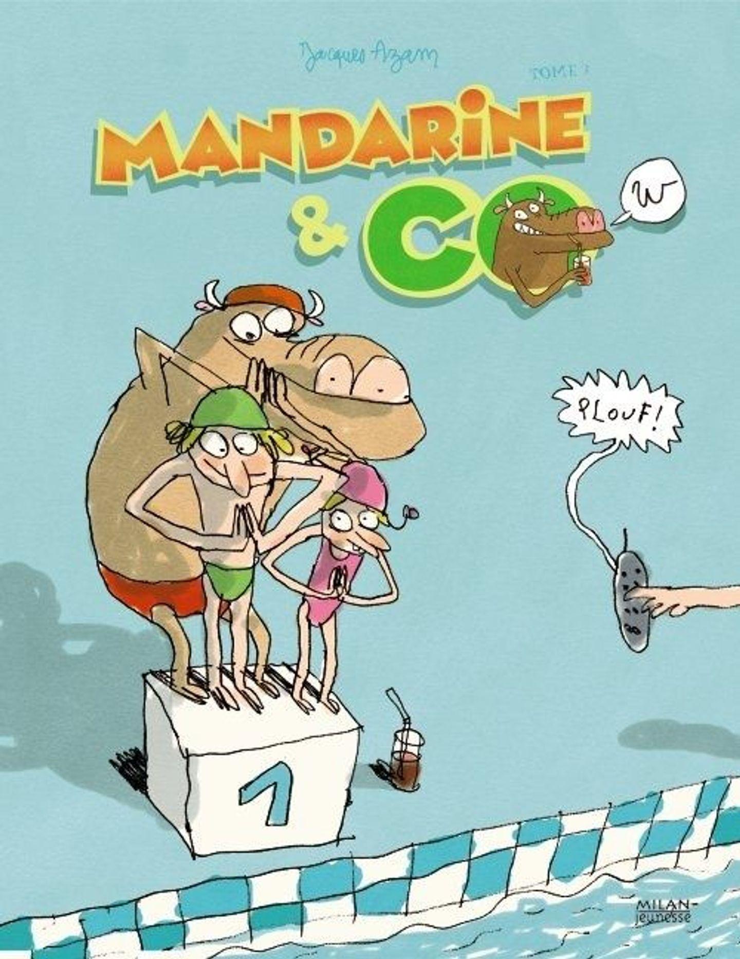 Mandarine & Cow, Tome 3 : Plouf ! dedans Album Plouf