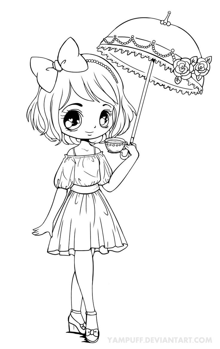 Manga Chibi Coloring Pages At Getdrawings | Free Download destiné Coloriage Manga Kawaii