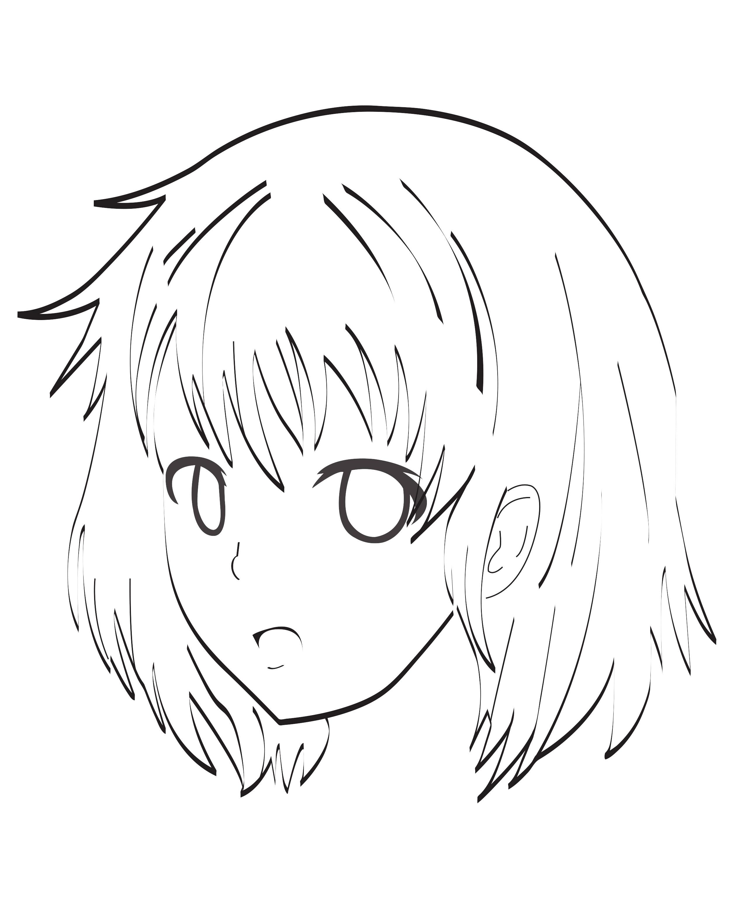 Manga - Divers Animes Et Mangas - Coloriages Pour Enfants destiné Coloriage Manga Kawaii