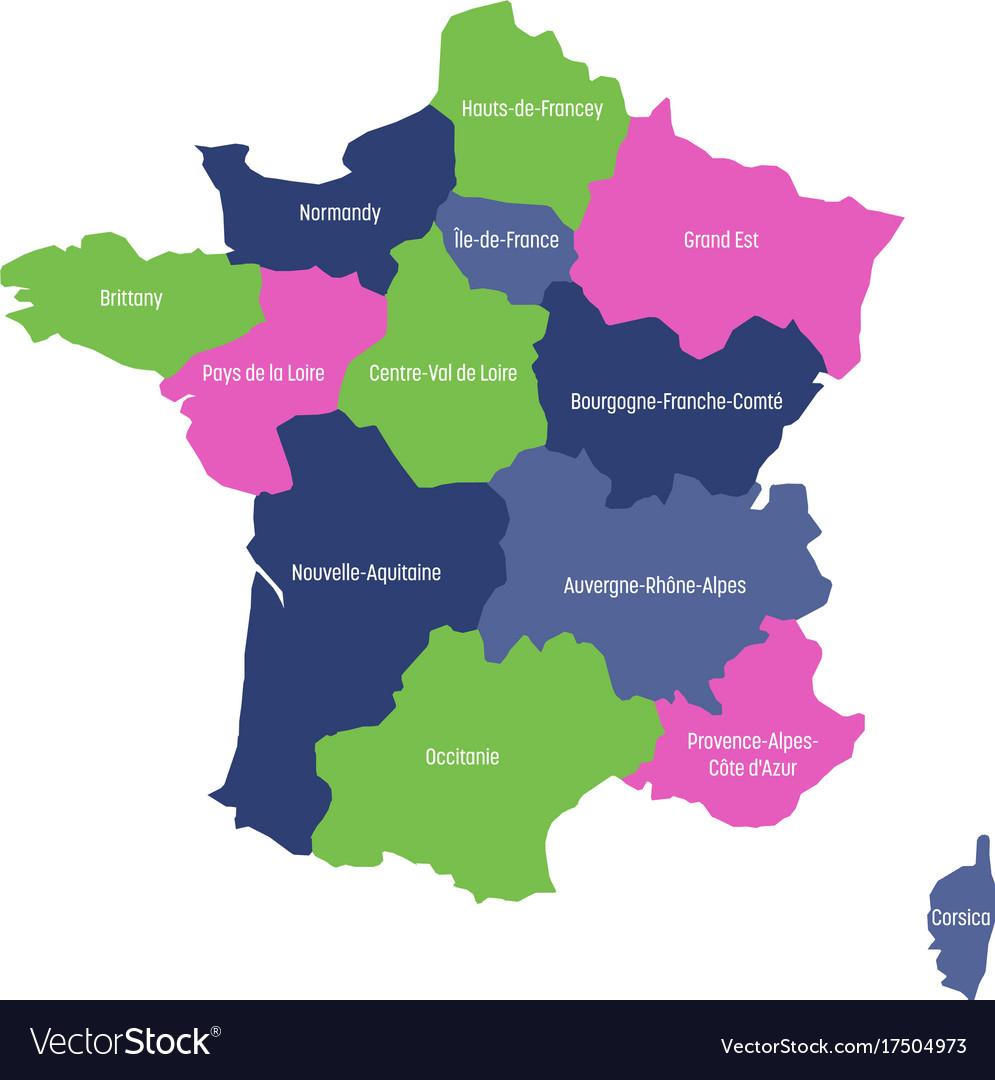 Map Of France Divided Into 13 Administrative destiné Nouvelle Region France