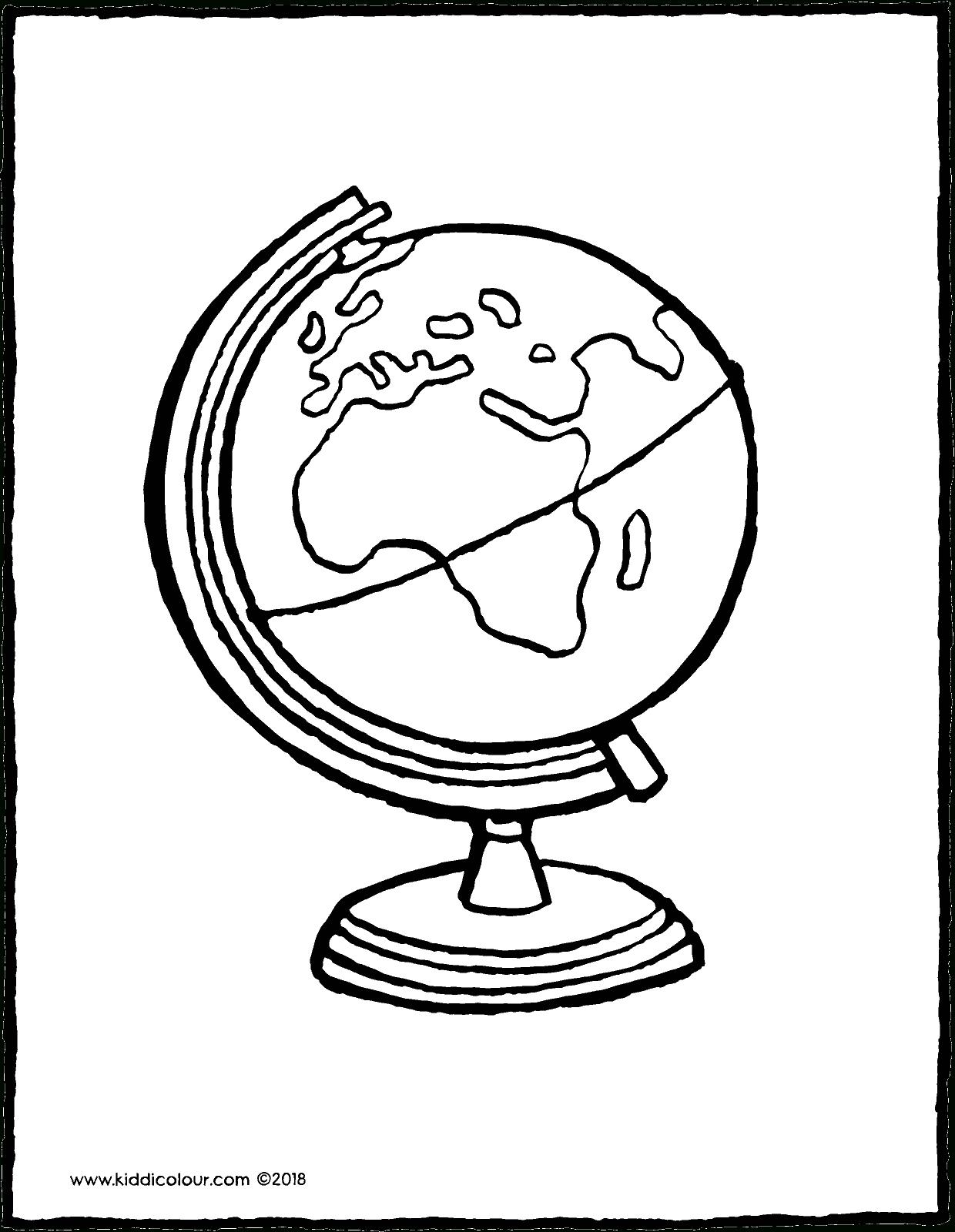 Mappemonde Globe - Kiddicoloriage encequiconcerne Dessin Mappemonde