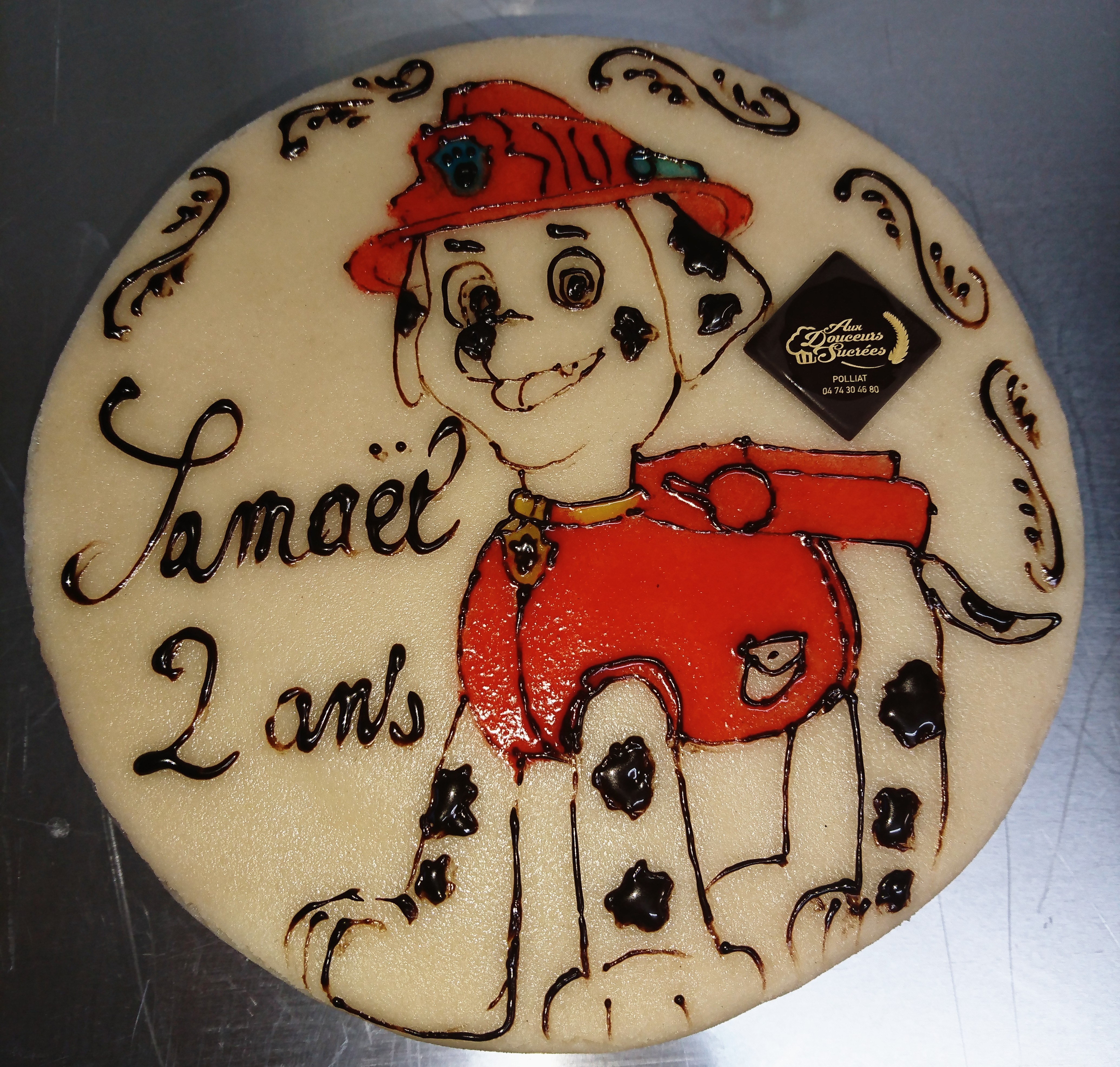 Marcus Pat Patrouille Gâteau D'anniversaire - Aux Douceurs Sucrées - Polliat encequiconcerne Gateau Anniversaire Winnie L Ourson