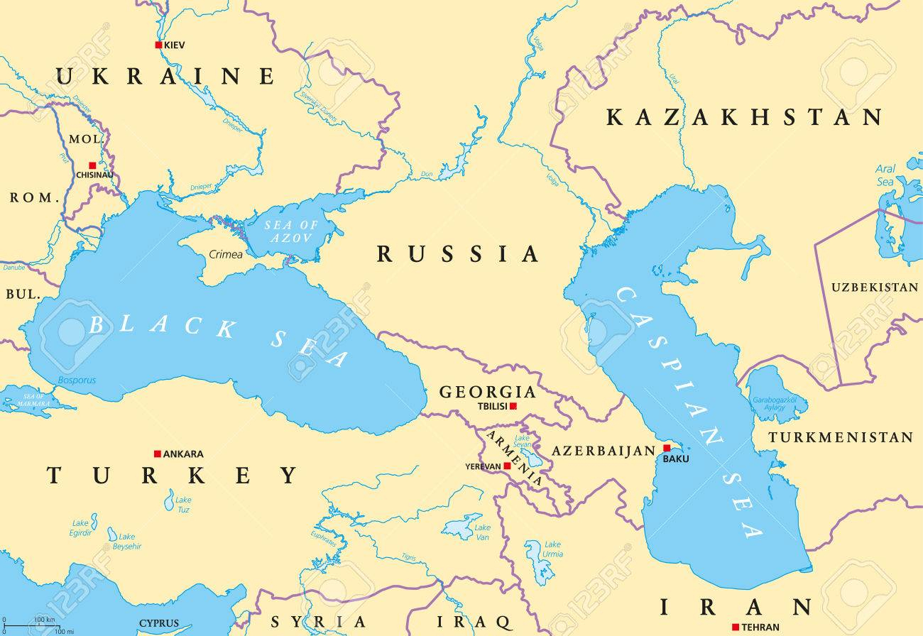 Maritime Authorities From Black & Caspian Sea Regions à Carte Europe Capitale