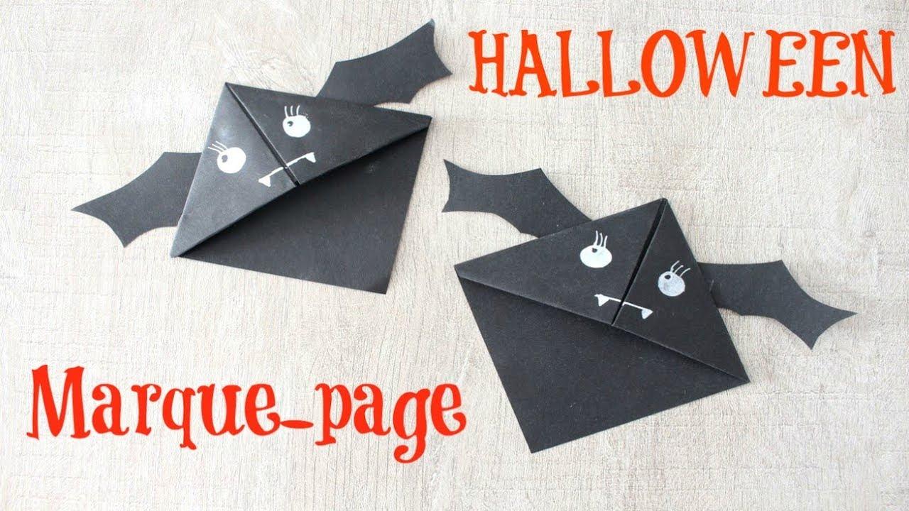 Marque-Page Origami Chauve-Souris ! Diy Halloween dedans Origami Chauve Souris