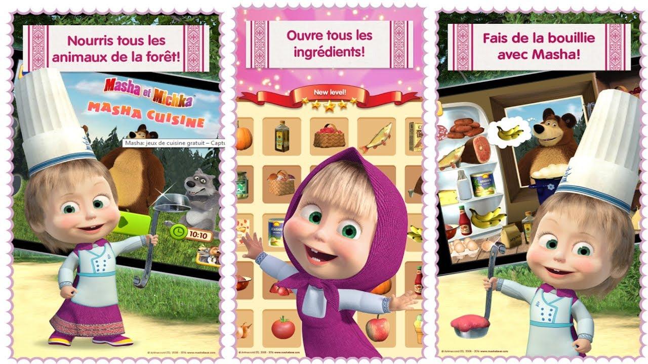 Masha Et Michka - Jeux De Cuisine Pour Enfants - Dessin Animé En Français #1 pour Jeux Facile Pour Petit Gratuit