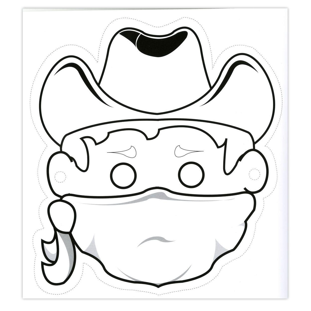 Masque De Cowboy À Imprimer, Décorer Et Découper | Masque concernant Masque Canard À Imprimer