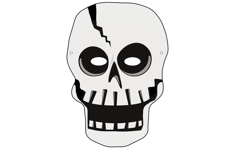 Masque De Squelette Pour Halloween à Squelette A Imprimer
