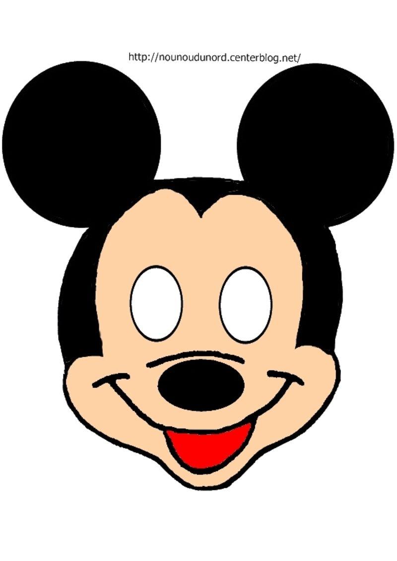Masque Mickey À Imprimer dedans Découpage Collage Maternelle À Imprimer