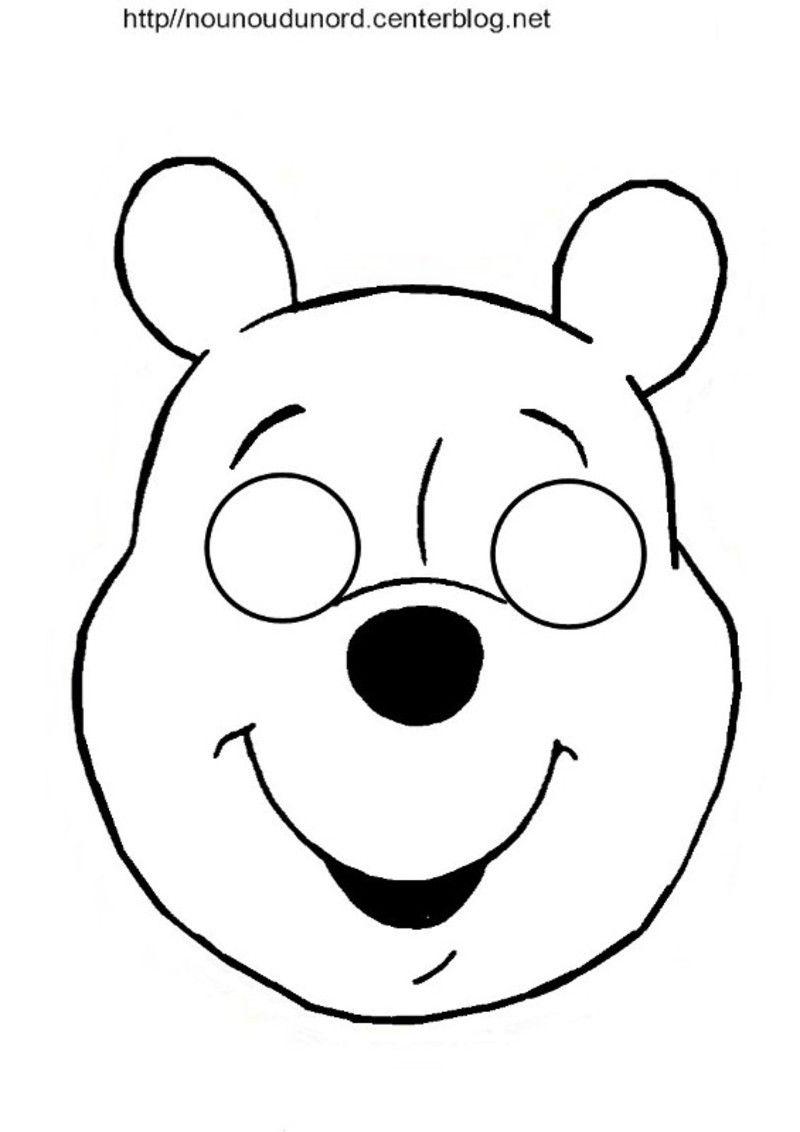 Masques Ours, Petit Ours Brun Et Winnie L'ourson | Masque à Masque Canard À Imprimer