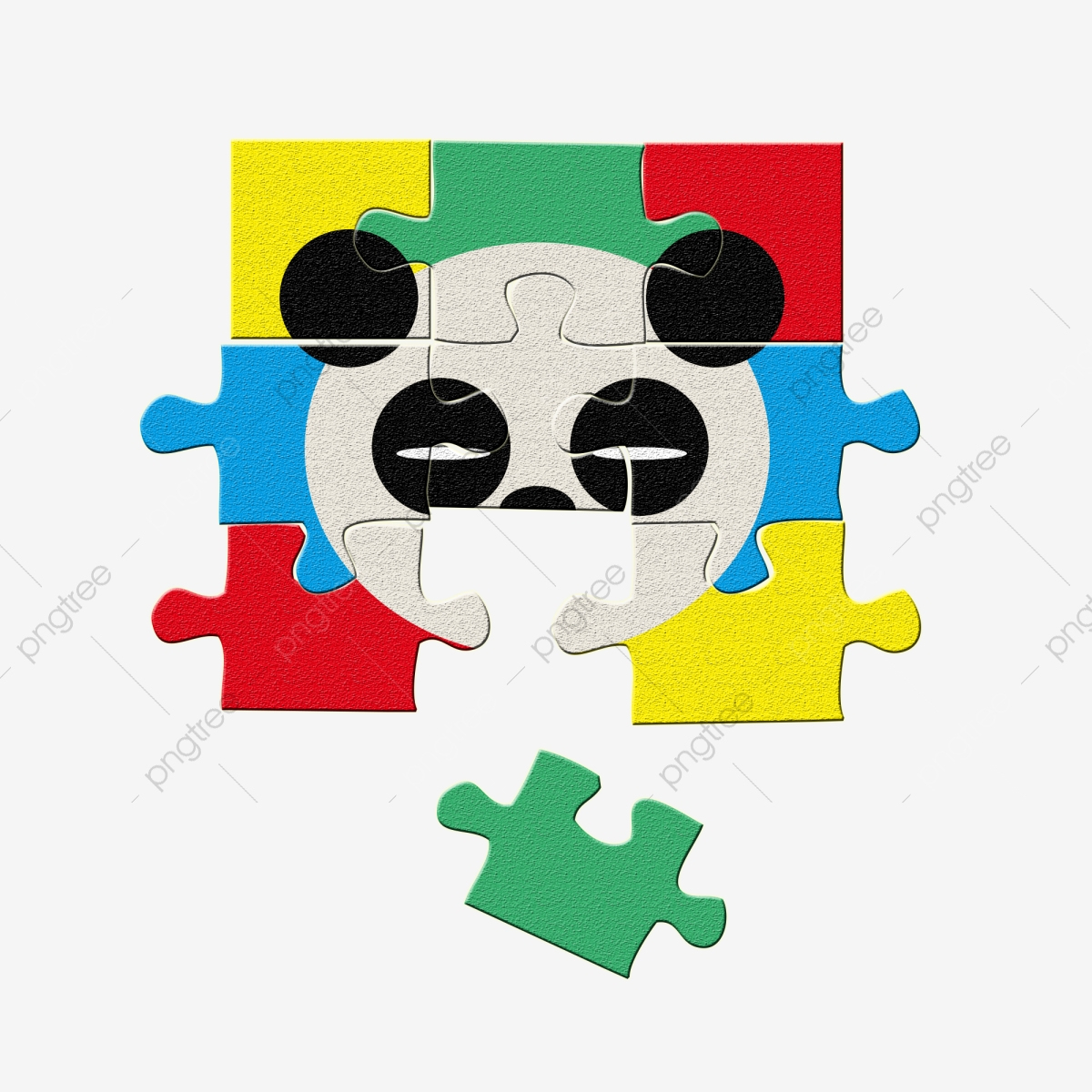 Matériel De Puzzle Mignon Panda Couleur Pour Jouets Enfants destiné Puzzle Gratuit Enfant