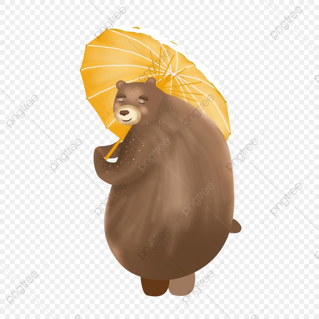Matériel D'ours Élément De Dessin Animé Matériau Transparent tout Petit Ours Brun Dessin Animé Gratuit