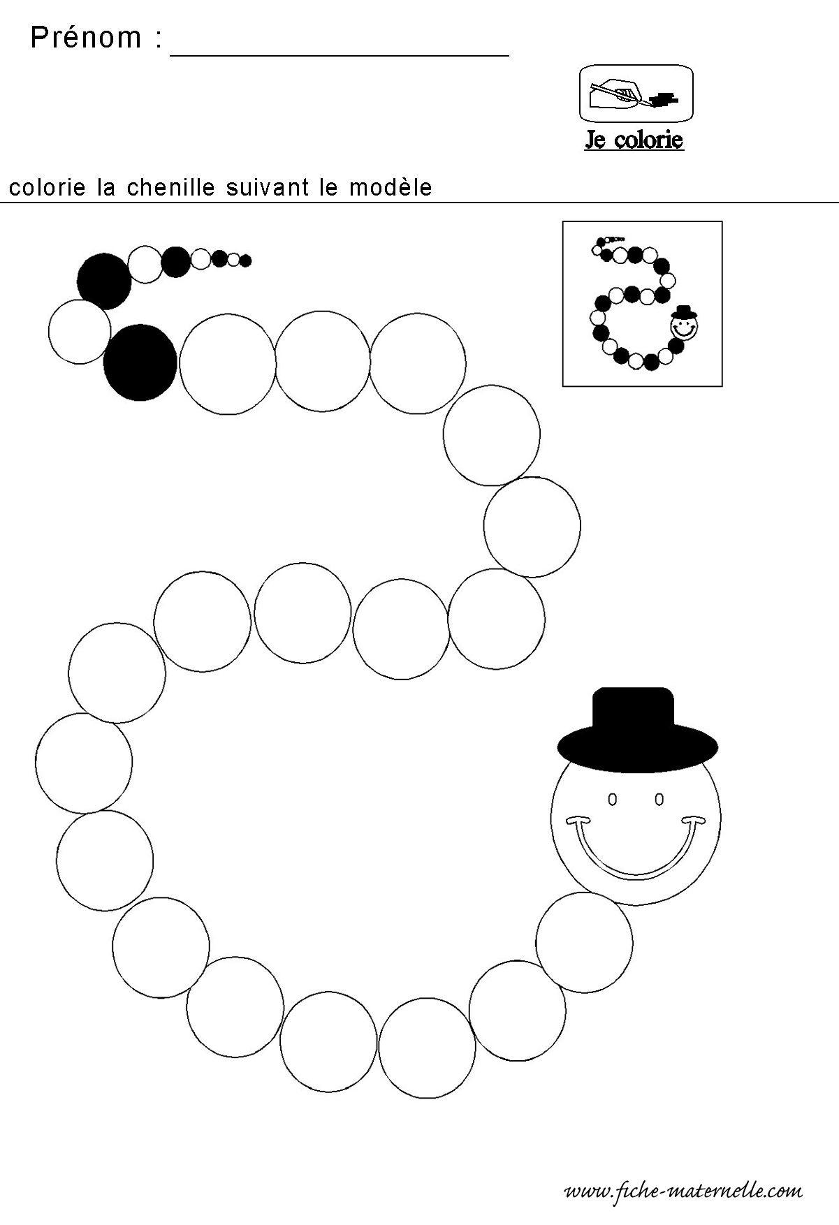 Mathematiques Maternelle Algorithme De La Chenille avec Grande Section Maternelle Age