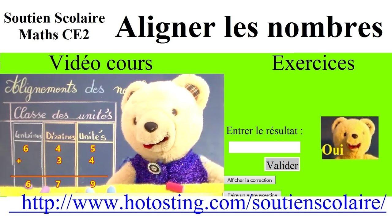 Maths Ce1 Ce2 Clis : Aligner Les Nombres + Exercices Sur Site destiné Nombres Pairs Et Impairs Ce2