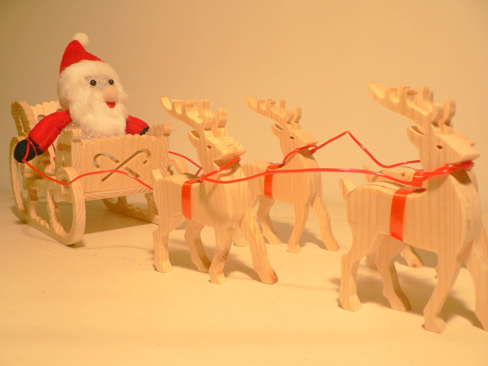 Mdf En Bois Noël Le Traîneau Du Père Noël Noël Décoration pour Image De Traineau Du Pere Noel