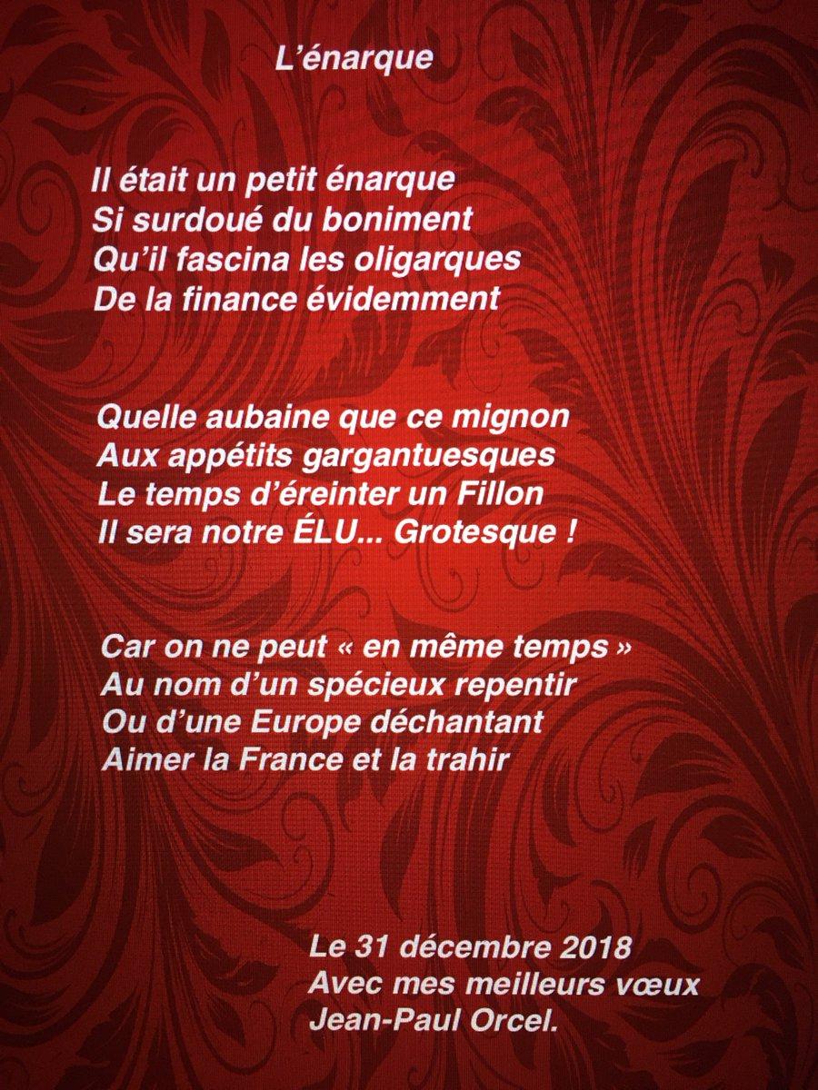 Media Tweets By Jean-Paul Orcel (@jeanpaulorcel) | Twitter serapportantà Poeme Voeux Nouvel An