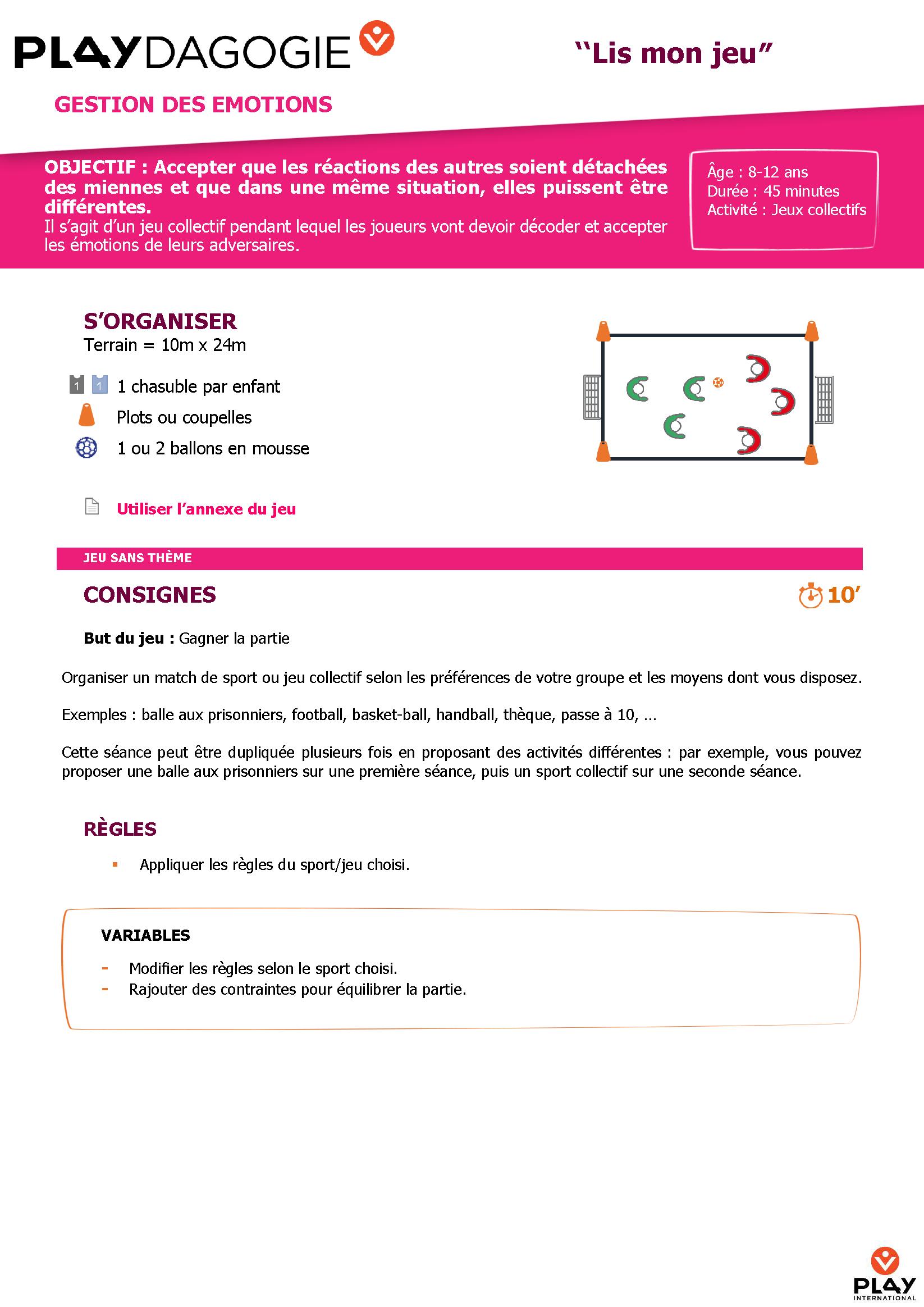 Médiathèque   Play International à Jeux Sportifs 6 12 Ans