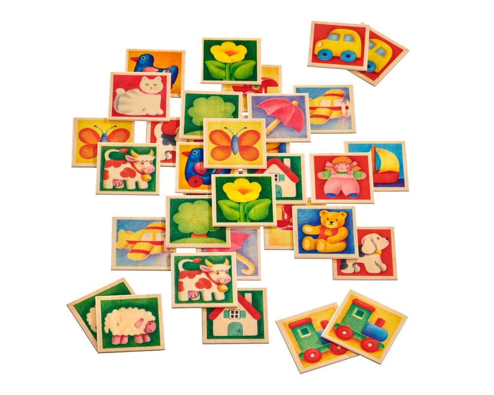 Mémo Multicoloré - Jouets Bois Selecta avec Jeux De Memoire Enfant