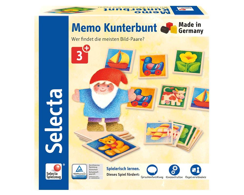 Mémo Multicoloré - Jouets Bois Selecta encequiconcerne Jeux De Memoire Enfant
