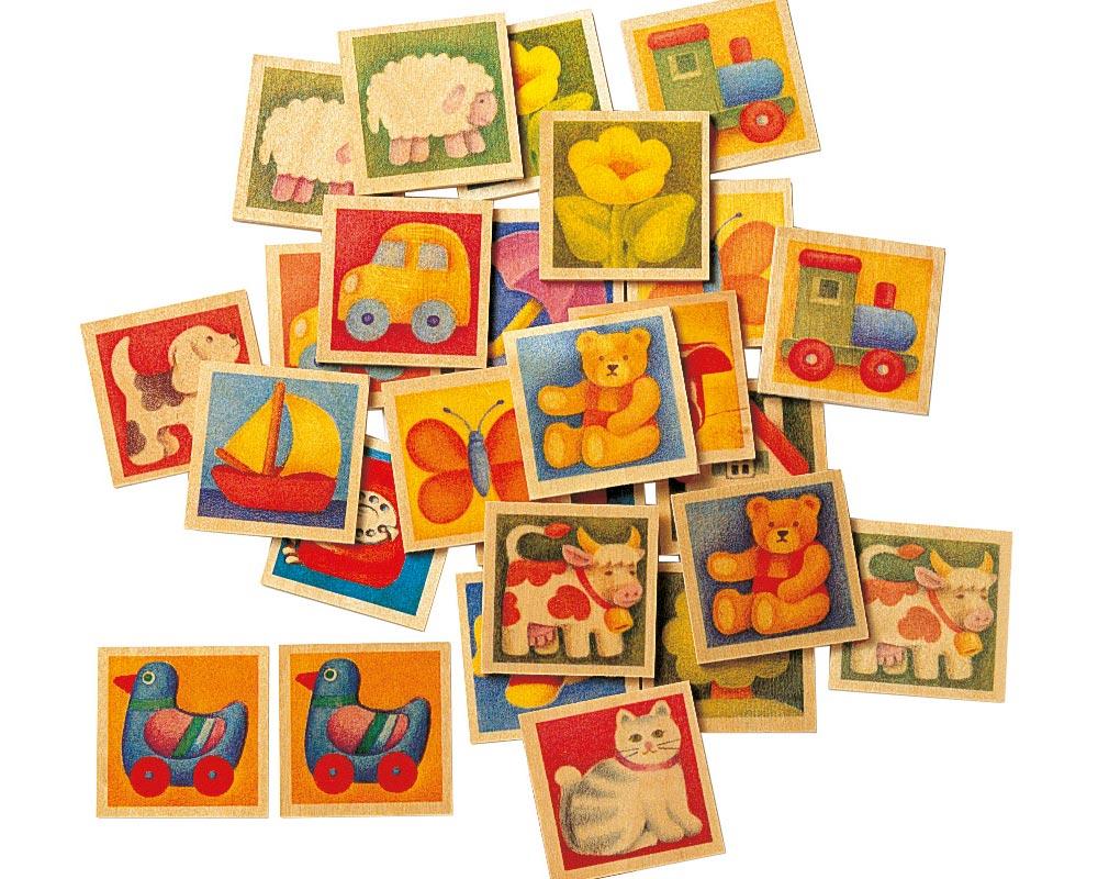 Mémo Multicoloré - Jouets Bois Selecta intérieur Jeux De Memoire Enfant