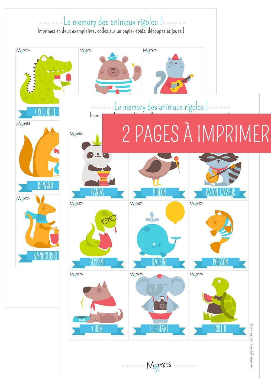 Memory Animaux - Jeu À Imprimer | Jeux A Imprimer, Jeux avec Jeux De Mémoire Visuelle À Imprimer