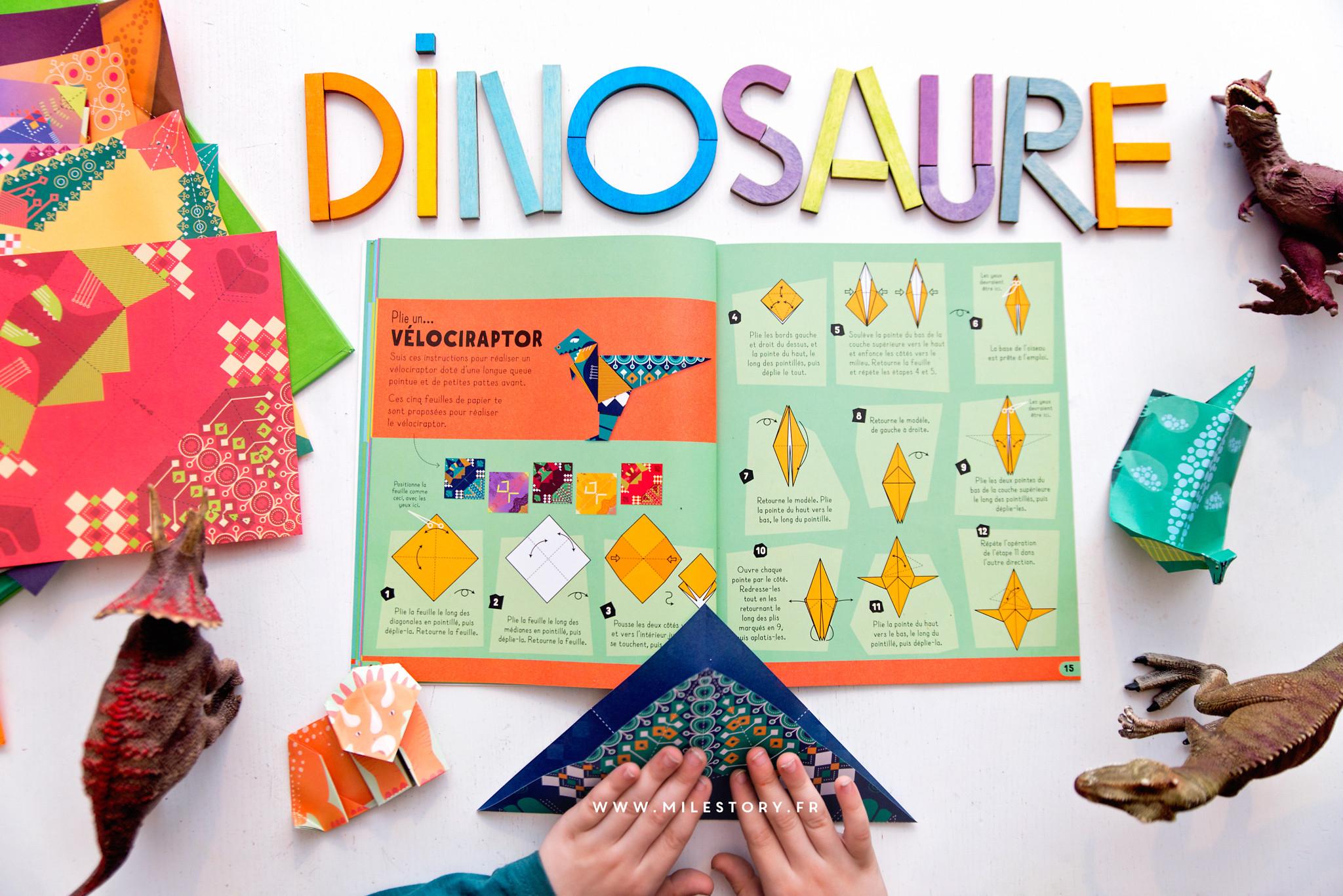 Mes Dinosaures En Origami - Milestory serapportantà Origami Facile A Faire En Français
