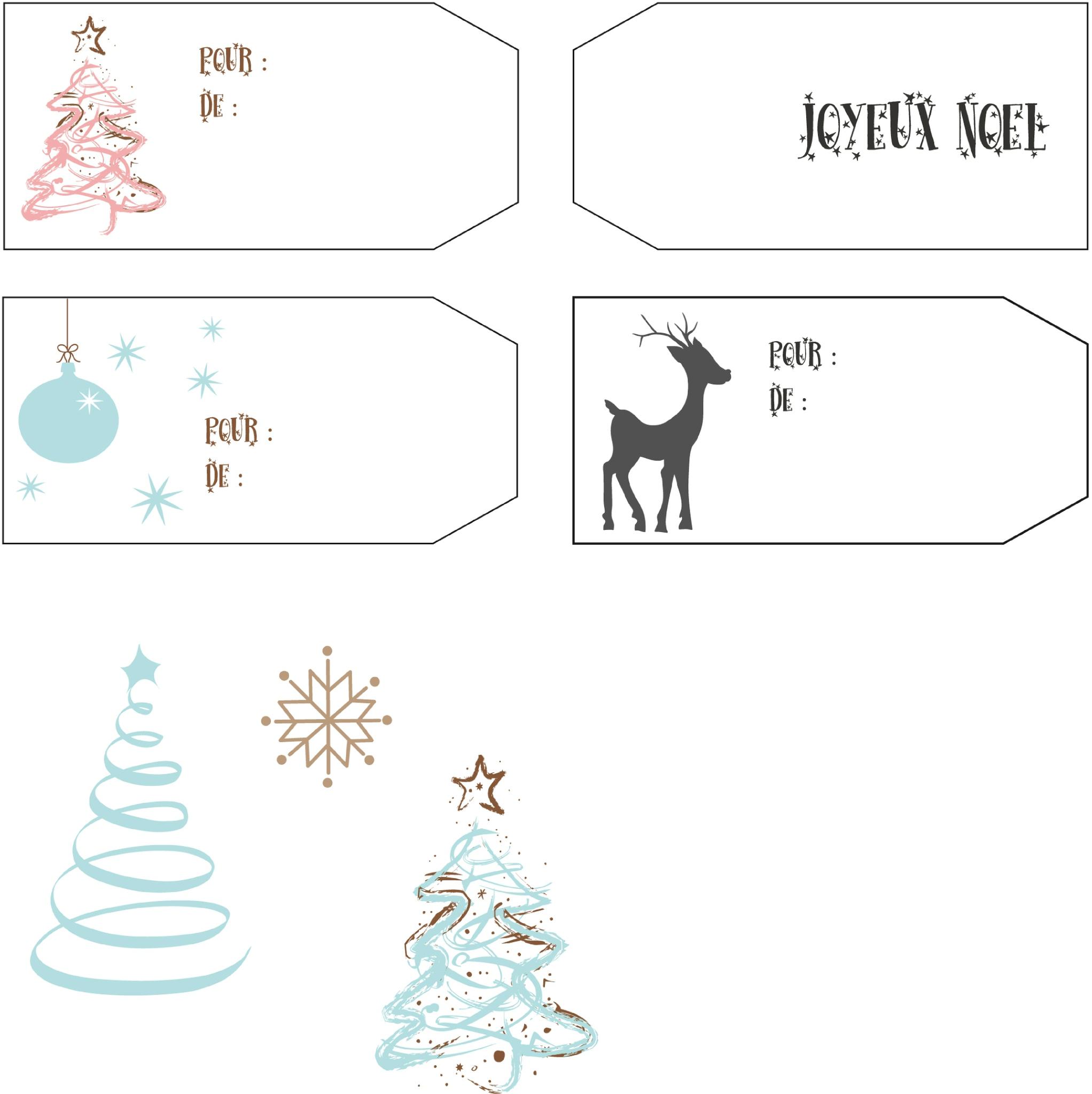 Mes Étiquettes De Noël Pour Vous ! - Des P'tites Creations concernant Etiquette Noel A Imprimer
