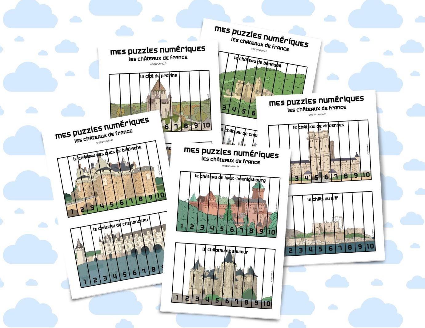 Mes Puzzles Numériques À Imprimer Gratuitement - Un Jour Un Jeu pour Puzzle Gratuit Enfant