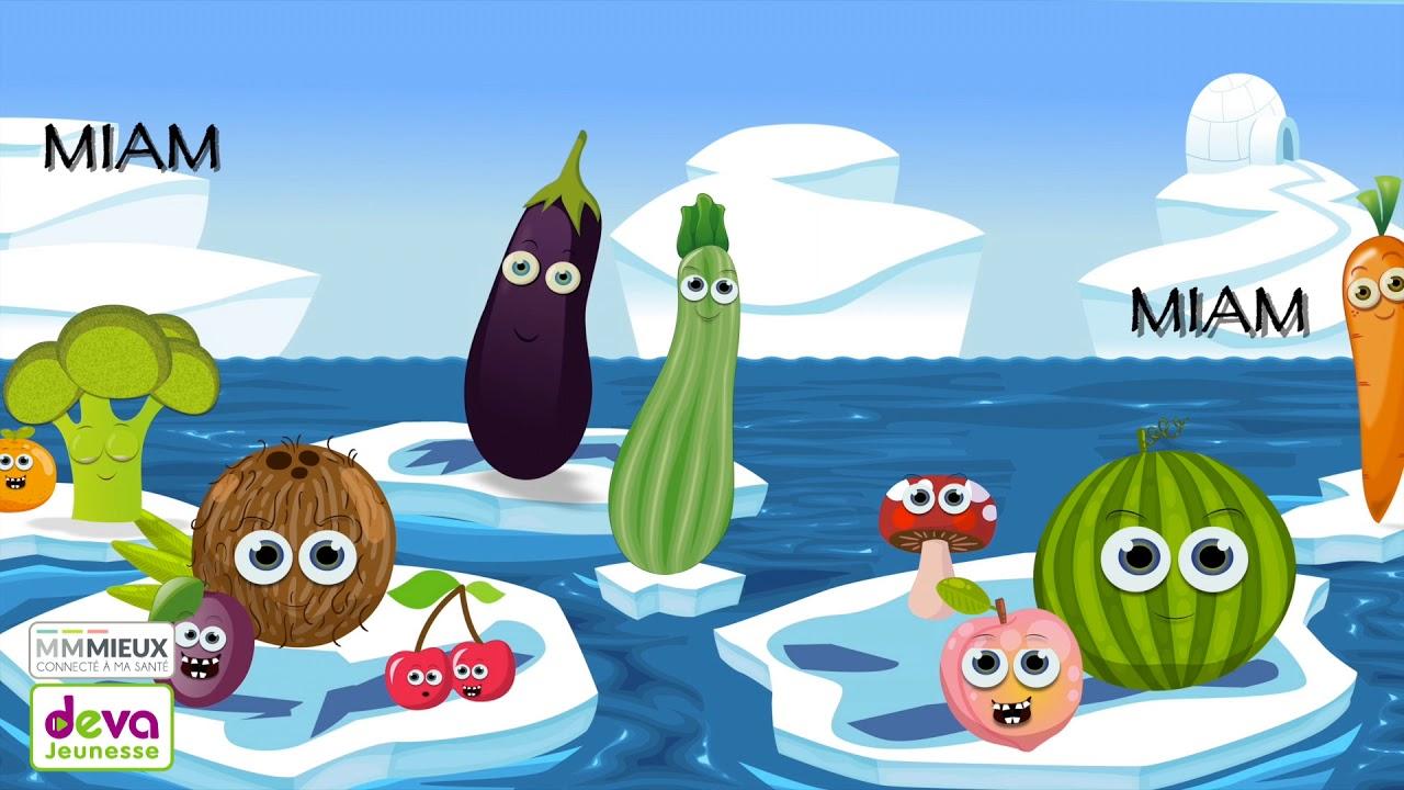 Miam Miam Les Légumes Et Les Fruits - Comptine Pour Enfant à Chanson Sur Les Fruits Et Légumes