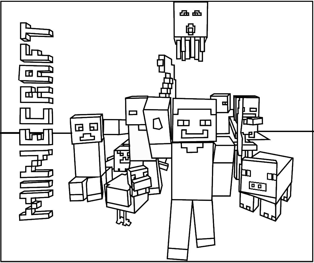 Minecraft #105 (Jeux Vidéos) – Coloriages À Imprimer avec Jeux De Concentration À Imprimer