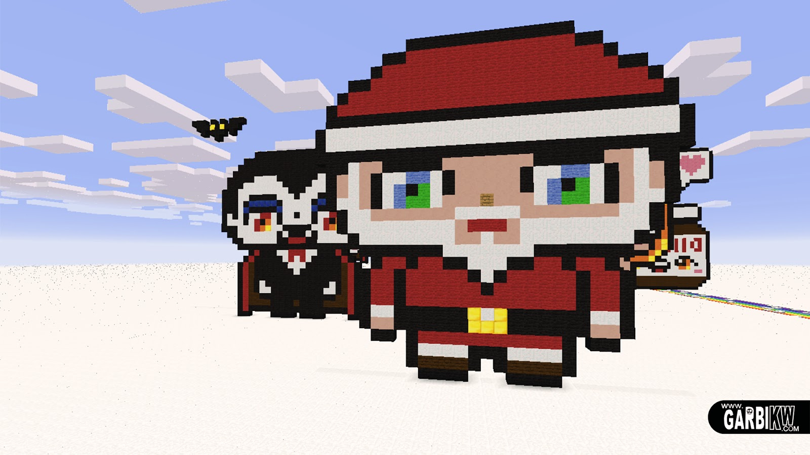 Minecraft Pixel Art - How To Make Kawaii Santa Claus serapportantà Pixel Art Pere Noel