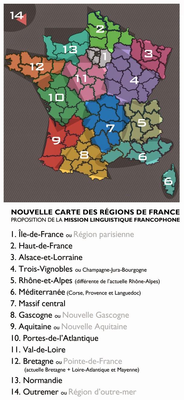 Mission Linguistique Francophone: Nouvelle Carte Des Régions tout Nouvelle Carte Des Régions De France