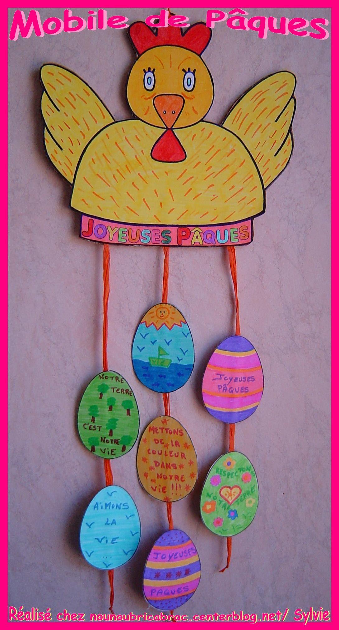 Mobile De Pâques *2* Façon Nounoubricabrac !!! (Avec Images serapportantà Bricolage Pour Paques Maternelle