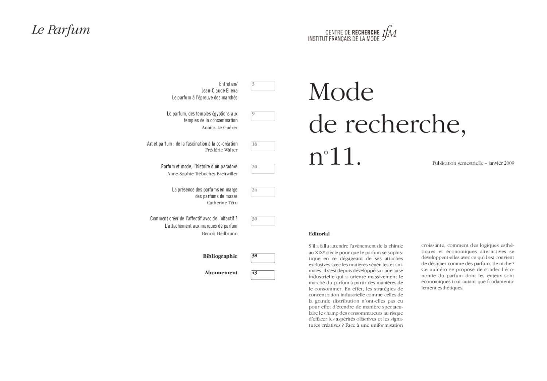Mode De Recherche 11 By Institut Français De La Mode - Issuu intérieur Sens Olfactif