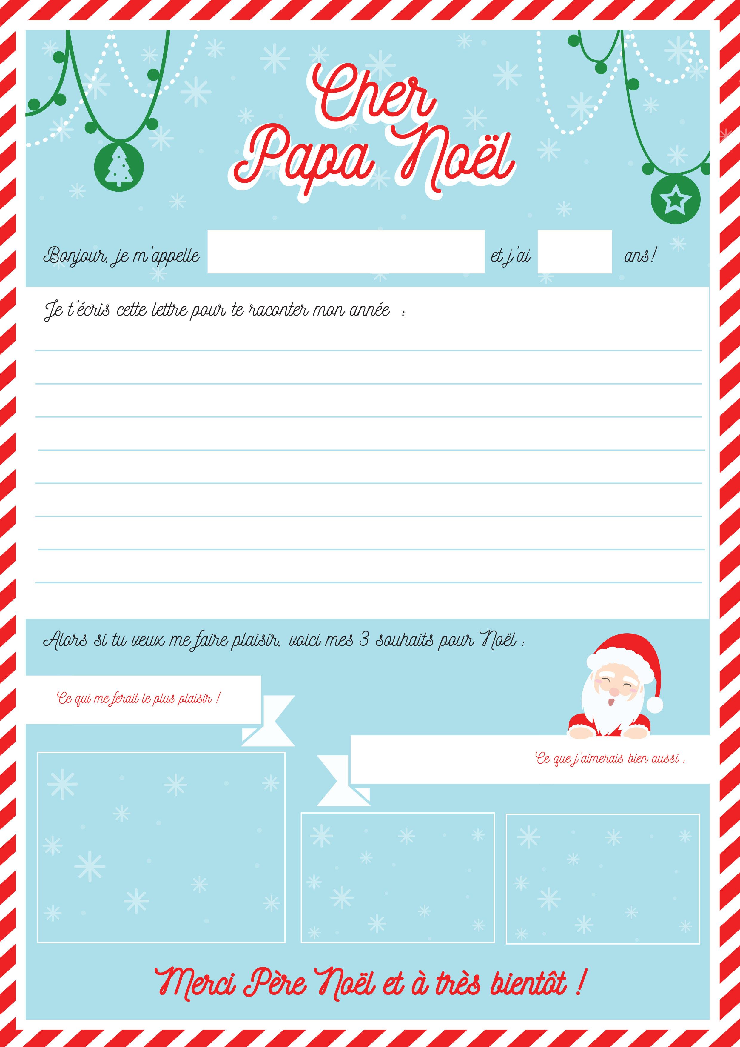 Modele Lettre Au Père Noël À Imprimer Avec Tête À Modeler concernant Liste Pere Noel Imprimer