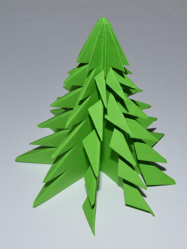Modèle Origami Sapin Facile | Origami Sapin De Noel, Origami à Origami Sapin De Noel