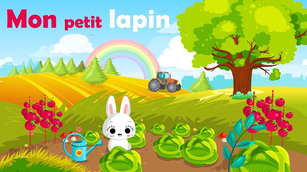 Mon Petit Lapin - French Nursery Rhyme For Kids And Babies (With Lyrics) concernant Chanson Enfant Lapin