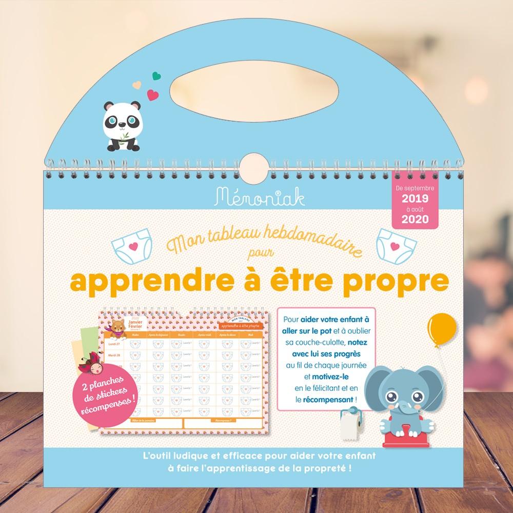 Mon Tableau Hebdomadaire Pour Apprendre À Être Propre Mémoniak 2019-2020 concernant Apprendre Les Animaux Pour Bebe