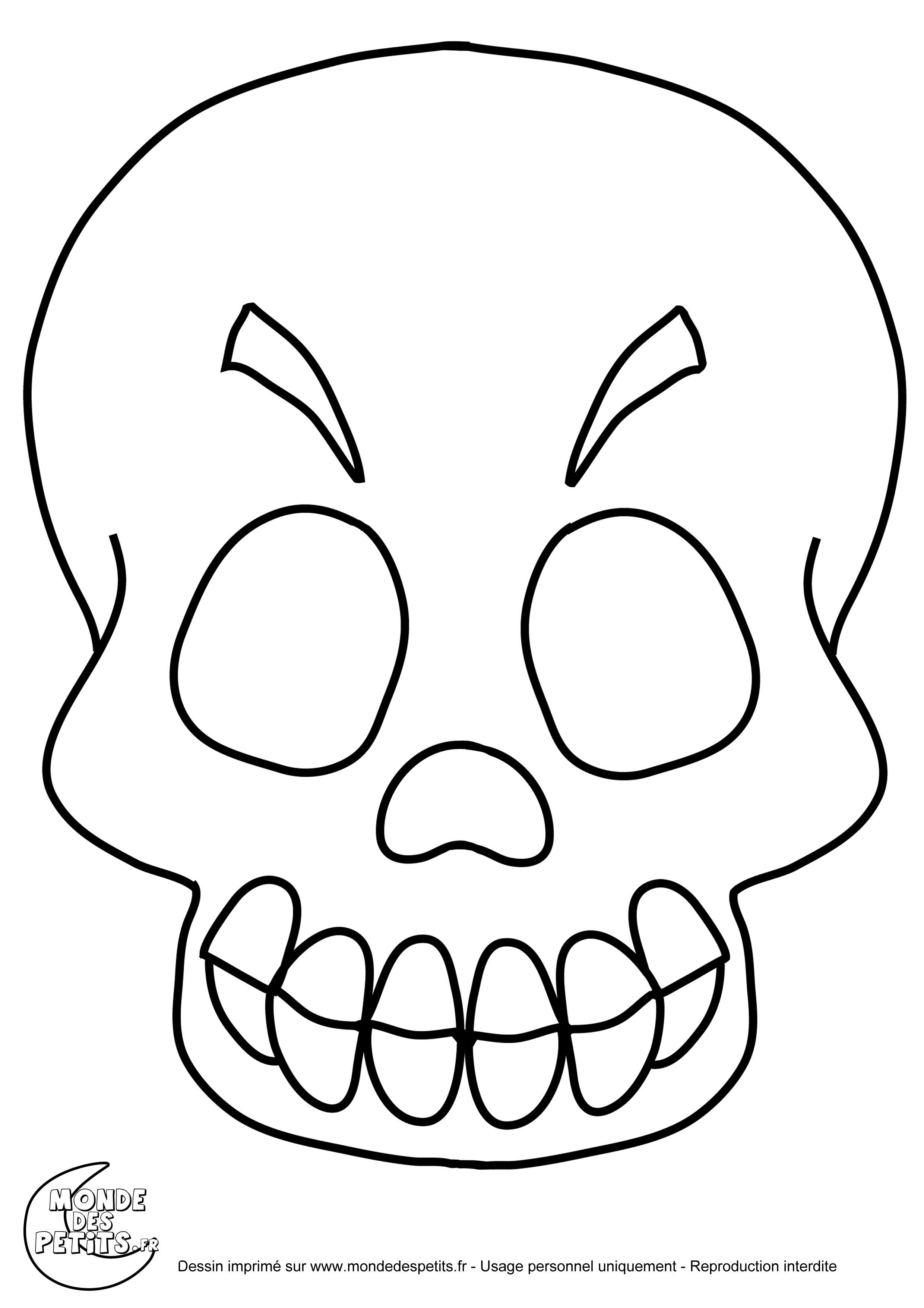 Monde Des Petits - Coloriages À Imprimer avec Squelette A Imprimer