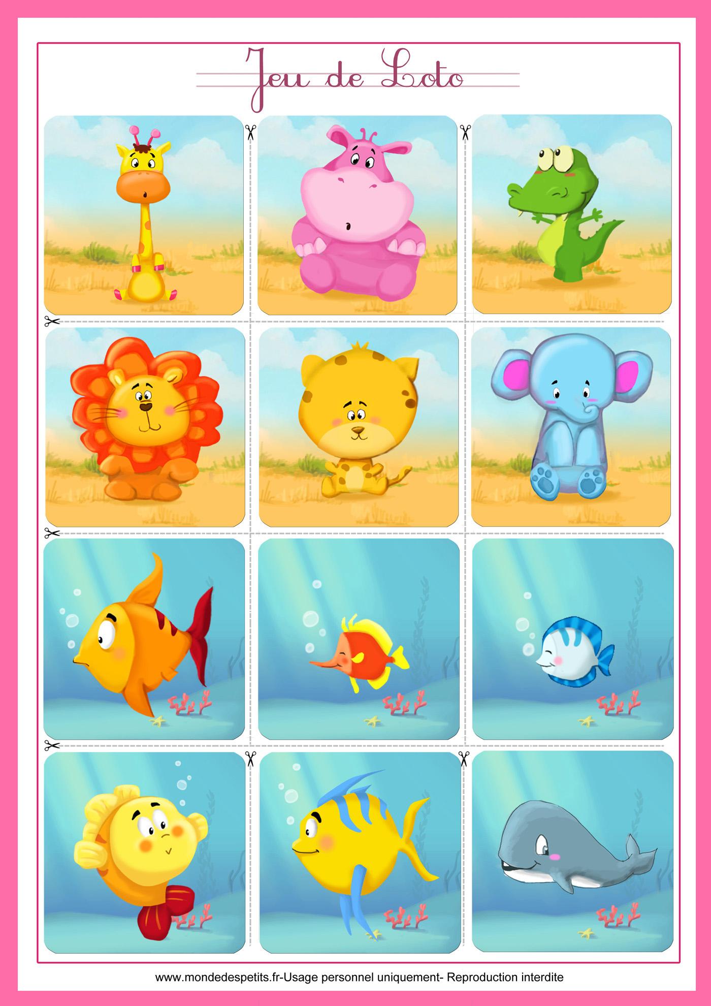 Monde Des Petits - Jeux De Société avec Apprendre Les Animaux Pour Bebe