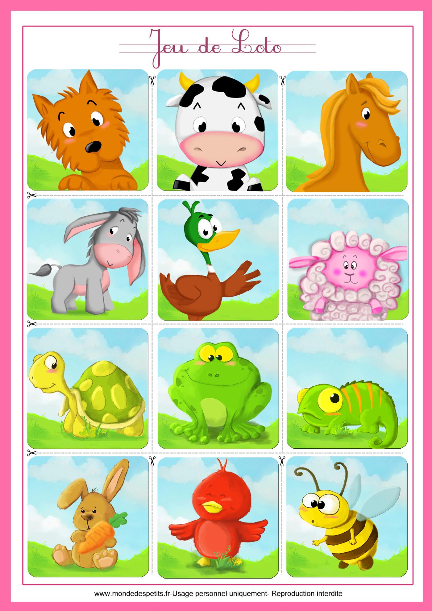 Monde Des Petits - Jeux De Société intérieur Apprendre Les Animaux Pour Bebe