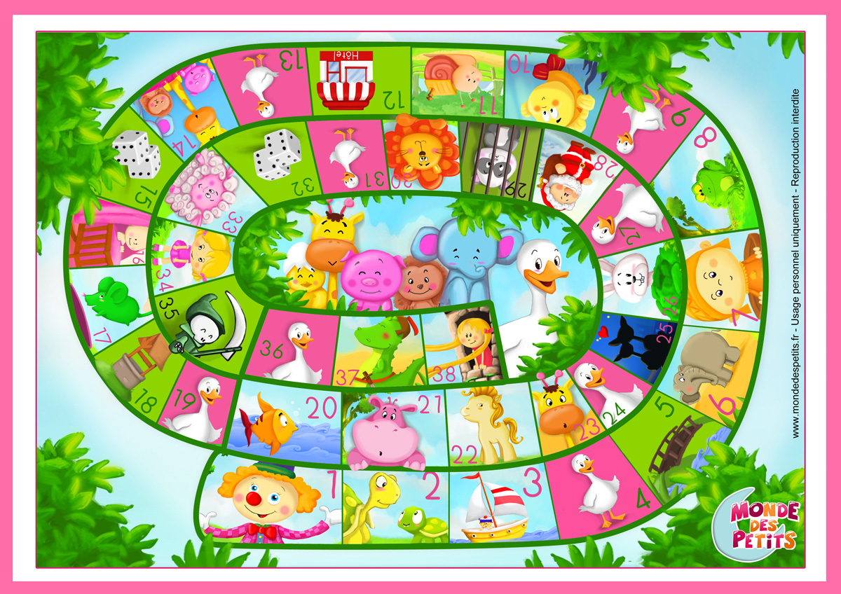 Monde Des Petits - Jeux De Société pour Jeux De Maternelle À Imprimer