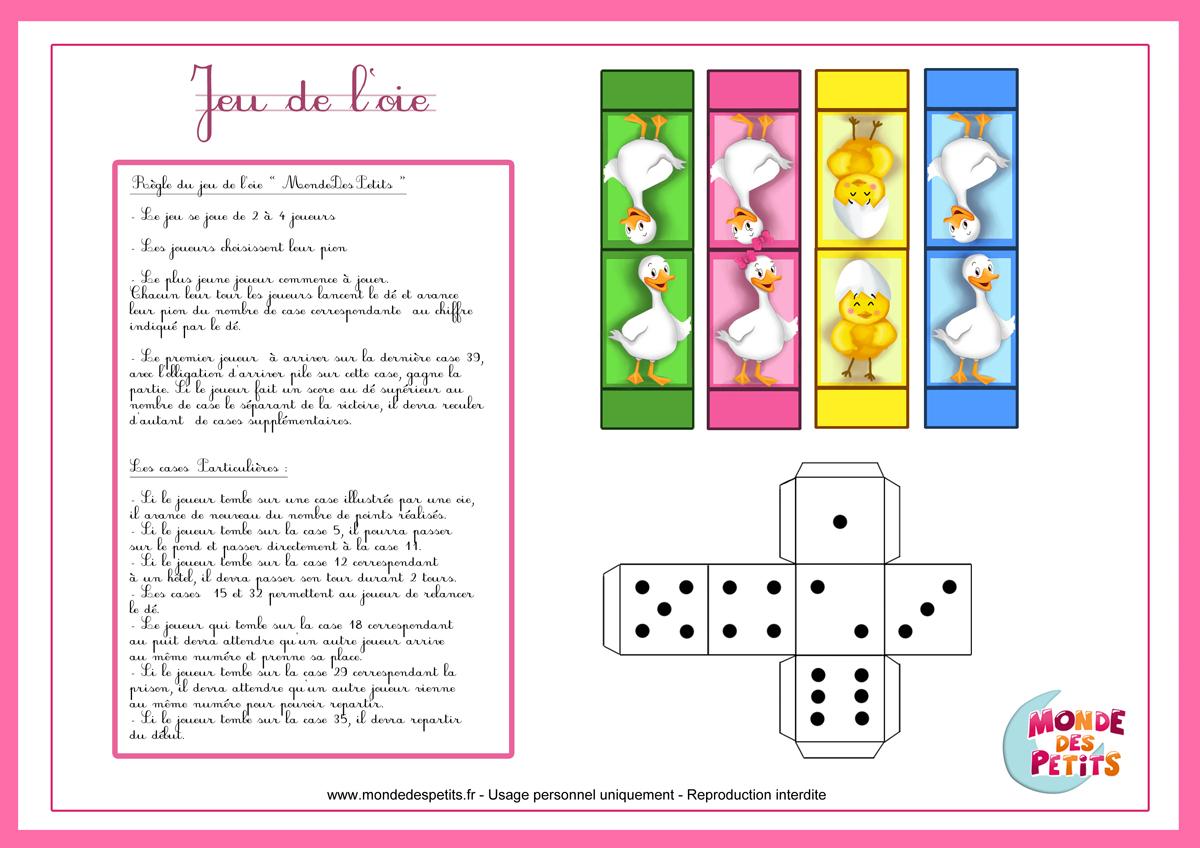 Monde Des Petits - Jeux De Société tout Jeux De Maternelle À Imprimer