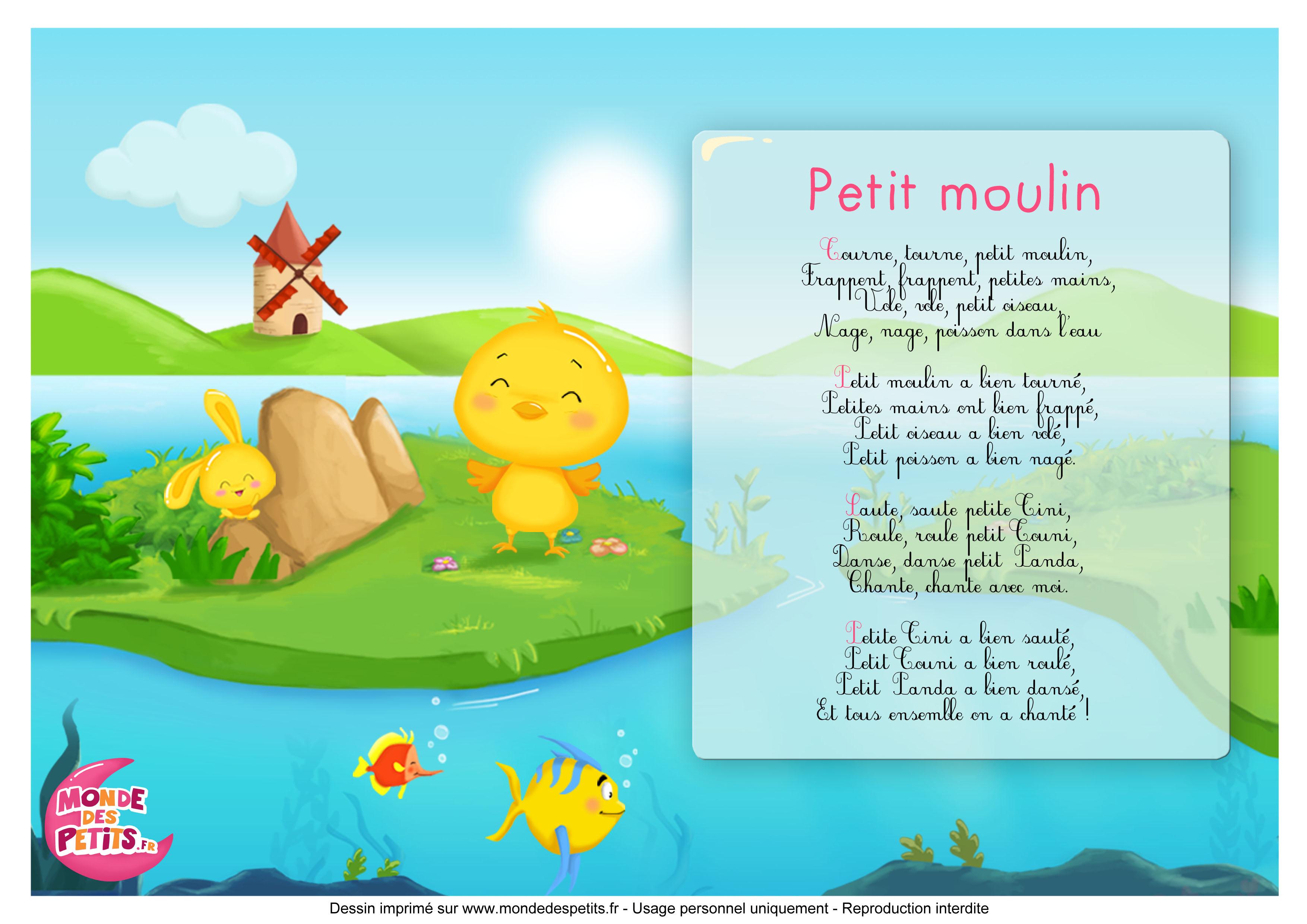 Monde Des Petits - Tourne, Tourne, Petit Moulin - Titounis à Petit Moulin Chanson