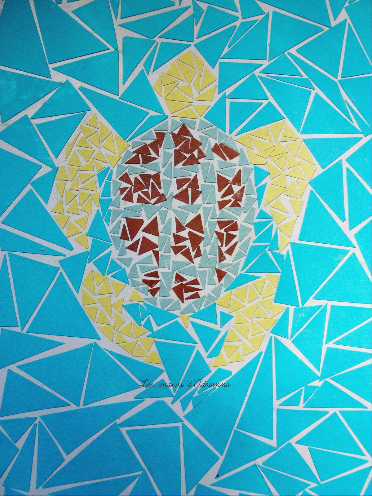 Mosaïque #1: Tortue En Papier - Les Mains D'adrienne serapportantà Support Pour Mosaique